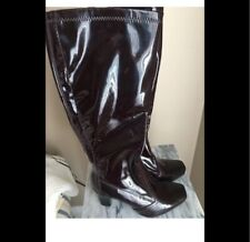 Brown Franco Sarto Patent Leather Boots Sz  8.5 W