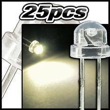 R 209# LED Blanc chaud 3mm 25pcs ultra lumineuse