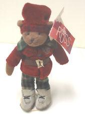 Russ Teddy Bingley mit Ständer Teddybär Bär Baer 19 cm aus Sammlung