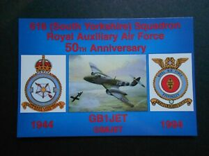MILITARY AIRFORCE POSTCARD - 616 SOUTH YORKSHIRE SQUADRON RAAF 50TH ANNIVERSARY