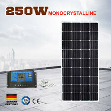 12V 250W Solar Panel Mono Cells Generator Caravan 250 watt  With Regulator