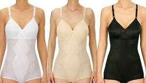 Naturana Womens Moulded Corselette Shaping Panty Bodysuit Black/White/Skin
