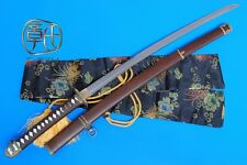 "HANDMADE JAPANESE MILITARY OFFICER'S SWORD KATANA 104""CM CARBON STEEL #3704"