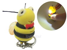 Bumble Bee Key Chain with LED Light and Sound