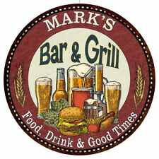 MARK'S Bar and Grill Round Metal Sign Kitchen Wall Decor 100140020090