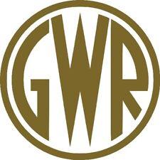 GWR Great Western Railway shirtbutton totem logo - vinyl decal sticker 10cm