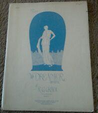 SHEET MUSIC THE DREAMER MEDITATION FOR THE PIANOFORTE 1915