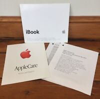 Vtg 2001 Apple Macintosh Mac iBook User Guide Manual Apple Care Brochure & Terms