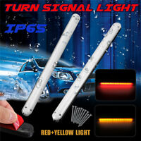 2pcs Motorcycle LED Turn Signal Light Strip Indicator RED&Yellow Lamp DC12V