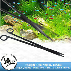 """Aquascaping Fish Aquarium Cleaner kelly Scissors Straight 12"""" Sharp/Sharp, Black"""