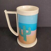 Vintage 1989 Royal Crest Desert Cactus Coffee Mug Cup