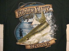 Rugged Earth Outfitters Hunting Fishing and Outdoor Wear Angler Green T Shirt L