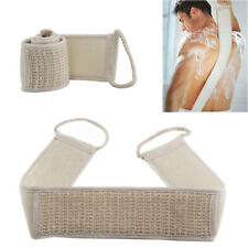 Exfoliating Back Scrubber Bath Shower Strap Loofah Spa Skin Brush Sponge Body