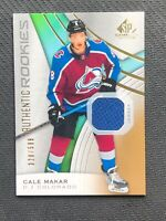 2019-20 UPPER DECK SP GAME USED CALE MAKAR AUTHENTIC ROOKIE JERSEY #ed 328/599