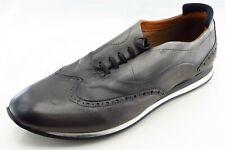 Zara Shoes Sz 42 M Almond Toe Gray Wing Leather Men