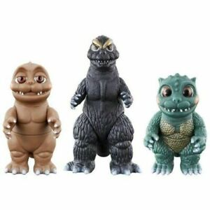 Set of 3 Bandai Godzilla Kun Little Minilla Movie Monsters figures monsters
