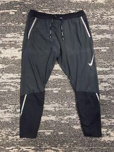 Nike Swift Flex Running Pants Black/Gray BV4809-010 Men's Size S