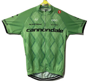 CANNONDALE CYCLING JERSEY Green Size XL Men PRO CYCLING TEAM - CASTELLI