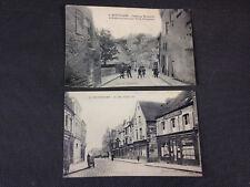 Lot 2 cartes postales anciennes cpa vue de Montdidier animées Gambetta Becquerel
