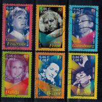 timbres France n° 3391/3396 oblitérés année 2001