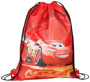 Kids Shoe Bag Gym Bag Cars 3 School Nursery Junior Bag Lightening McQueen