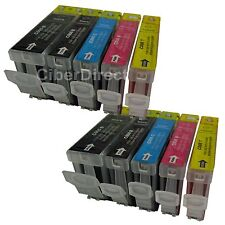 10 ink cartridges WITH CHIP for the CANON PIXMA MP800