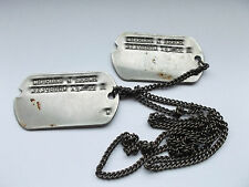 2ww usa dog tags identity discs on chain  CHARLES J ARBOR   31398660