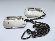 2ww usa dog tags identity discs on chain  CHARLES J ARBOR   31398660