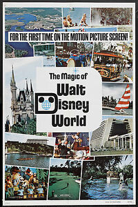 THE MAGIC OF WALT DISNEY WORLD original 1972 one sheet movie poster 27X41