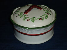 "5"" Nikko Holiday Hearth Christmas CANDY BOX or TRINKET BOX w/box"