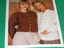 Ladies  Cardigan's  size 30-40  knitting pattern