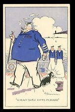 Navy British Comic Gilmour Heavy Swell advert PPC EAGLE Steamers
