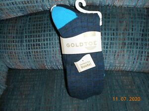Womens Gold Toe 2 Pair Pack Boot Socks Midnight Blue Black Colors Size 9-11 NWT