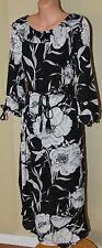 Womens Black and White Midi Dress BNWT - Flower - Size 8