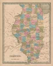 1846 Bradford Map of Illinois