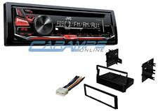 JVC CAR STEREO RADIO DECK W/ AUX INPUT AND CD PLAYER WITH INSTALLATION KIT