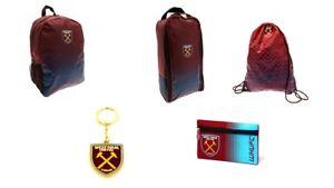 West Ham United Official Merchandise 100% Genuine Wallet Backpack Cap GymbagGift