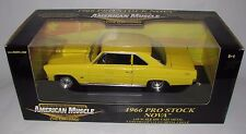 ERTL COLLECTIBLES AMERICAN MUSCLE 1966 PRO STOCK NOVA IN YELLOW 1:18 NEW IN BOX