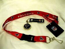 Atlanta Falcons Red NFL Keychain Detachable Lanyard+Falcons Bottle Opener-New!