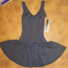 Bodywrappers P717 Steel Gray Extra small adult Lined front princess seam dress