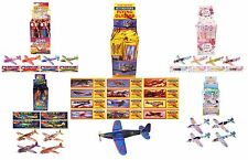 12 FLYING GLIDERS (Henbrandt) Party Loot Bag Toys Fillers Childrens Prizes