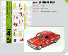 FIAT 125 SPECIAL RALLY MERCURY 1/43 - DECAL