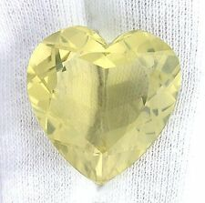 35.40 Carat Heart Natural Brazilian Lemon Citrine Gemstone Gem Stone EBS2040