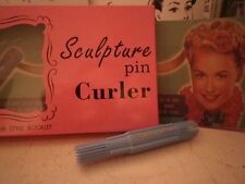 Sculpture Pin Curler box set for making vintage 1940s-1950s pin curl hair styles