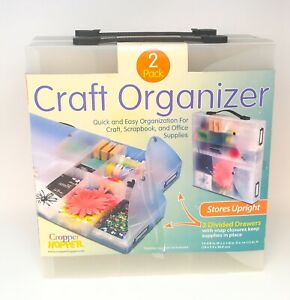Cropper Hopper 2 Pack Craft Organizer 30 Embellishment Compartments *NEW*