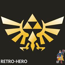 Zelda Aufkleber Vinyl Dreieck Nintendo Sticker Triforce Logo Gold 13x8 cm #2