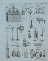 1797 Original Estampado Electricidad Varios Apparatus Equipment Experiments