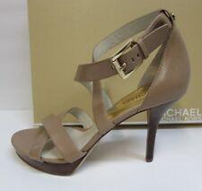 Michael Kors 9.5 Beige Leather Heels New Womens Shoes