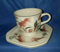 1 Set Mikasa Continental Silk Flowers F3003 Cup and Saucer - Made In Japan