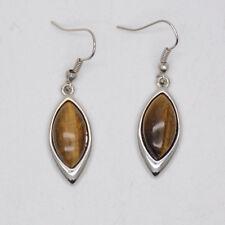lia sophia signed silver jewelry tiger eye genuine stone drop dangle earrings